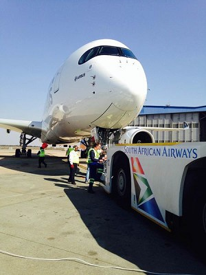 A350 XWB Arrived in Johannesburg for the 1st Time Ever