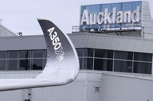 The A350 XWB makes its debut in New Zealand