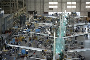 Boeing to Increase 737 Production Rate to 52 per Month in 2018
