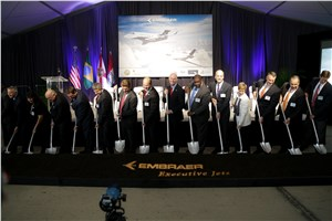 Embraer Breaks Ground On Legacy 500/450 Assembly Facility