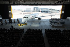 MHI and Mitsubishi Aircraft Host MRJ Rollout Ceremony