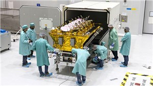 Payload processing begins for the December 18 Soyuz launch with O3b Networks satellites