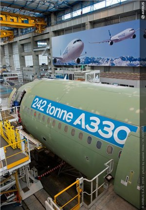 1st 242 Tonne Take-off Weight A330 Starts Final Assembly