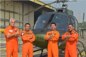 Indonesian Army Receives the 1st of 12 Airbus Helicopters Light Attack Ecureuil-Fennec Family Rotorcraft