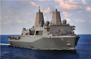 USS New Orleans Leaves BAE Shipyards