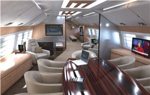 Rockwell Collins' Venue, Airshow Cabin Systems Selected for Wide-Body VIP Business Jet
