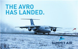 Summit Aviation Group Announces Addition of 2nd AVRO RJ85 Aircraft