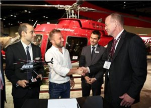 1st Bell 407GX Sold to Italian Customer at Heli-Expo