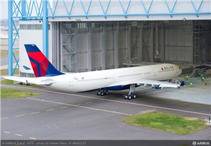Most Advanced A330 Rolls Out of Paintshop in Delta Air Lines Livery