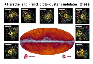 Herschel and Planck Find Missing Clue to Galaxy Cluster Formation