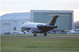 Embraer Executive Jets Takes Legacy 500 to Aero Friedrichshafen for the 1st Time