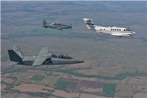 USAF Student Test Pilots Evaluate Textron Airland Scorpion and Beechcraft AT-6