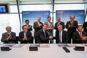 Boeing, Japanese Partners Formally Sign Agreement on 777X