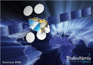 Successful Launch of the EUTELSAT 8 West B Satellite, Built by Thales Alenia Space