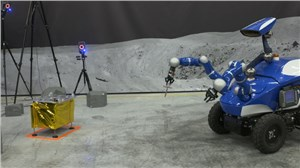 Slam Dunk for Andreas in Space Controlling Rover on Ground