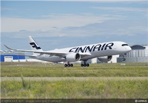 Finnair's 1st A350 XWB Makes its Maiden Flight