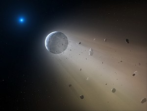 NASA's K2 Finds Dead Star Vaporizing a Mini ''Planet''