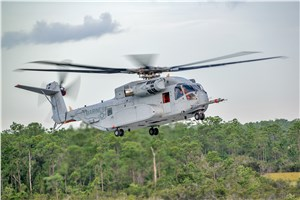 USMC's Ch-53K Helicopter Takes 1st Flight