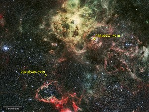 NASA's Fermi Satellite Detects 1st Gamma-ray Pulsar in Another Galaxy