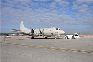 FRCSE P-3C is 1st Plane Out During Runway Construction Project