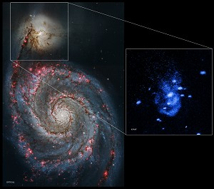 NASA's Chandra Finds Supermassive Black Hole Burping Nearby