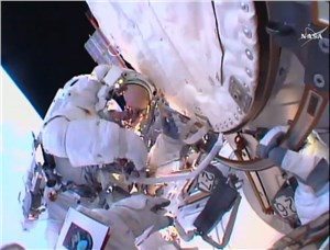 Tim and Tim Safely Back in Space Station After Spacewalk