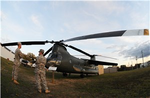 Soldiers Provide Facelift for 'Winged Chinook'