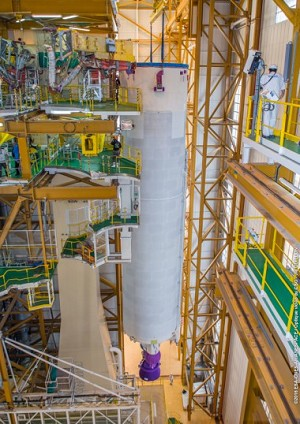 2nd Ariane 5 for Launch This Year Begins its Assembly at the Spaceport