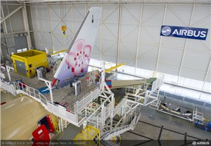 1st China Airlines A350XWB takes shape in Airbus' Final Assembly Line