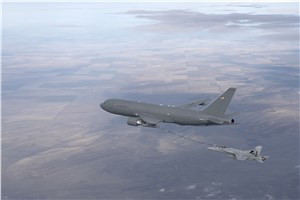 KC-46 Refuels Fighter Jet With Hose, Drogue System for 1st Time