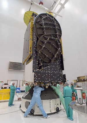 EUTELSAT 65 West A begins its launcher hardware integration for next Ariane 5 mission