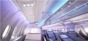 Airbus reveals full-scale cabin mock-up of A330neo, showcasing new ''Airspace by Airbus'' cabin brand