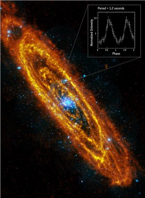 Found: Andromeda's 1st Spinning Neutron Star