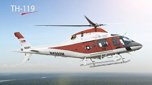 Leonardo-Finmeccanica introduces the TH-119: new name, new avionics for US Navy Advanced Helicopter Trainer Program