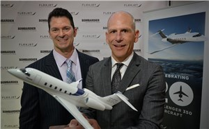 Bombardier Confirms Flexjet as Previously Undisclosed Buyer of 20 Challenger 350 Aircraft