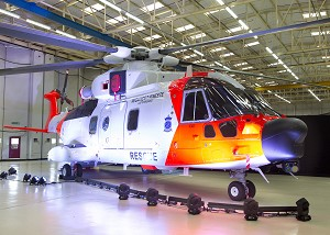 AW101 Norwegian All-Weather SAR Helicopter unveilled by Norway's Minister of Justice and Public Security