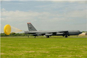 Ready to receive: B-52s touch down in England