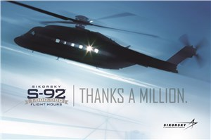 Sikorsky's S-92 One Million Flight Hours