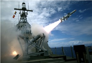 LCS Harpoon Missile Test