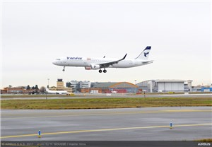 1st of 100 Airbus aircraft Delivered to Iran Air