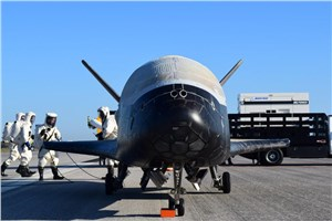X-37B Orbital Test Vehicle-4 lands at Kennedy Space Center