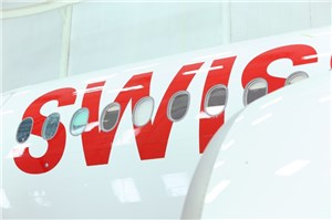 Bombardier Delivers 1st CS300 Aircraft to C Series launch Operator SWISS