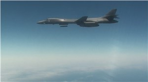 LRASM Tactical Configuration Takes 1st Flight from USAF B-1B