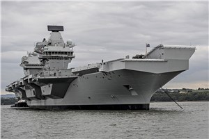 Britain's Second Aircraft Carrier Named in Rosyth