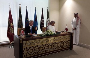 Defence Secretary strengthens UK-Qatar Defence relationship
