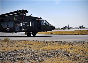 Afghan AF receives 1st delivery of UH-60s at Kandahar Airfield