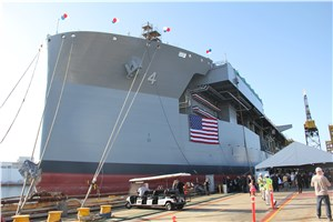 GD NASSCO Christens USNS Hershel ''Woody'' Williams