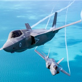F-35 Lightning Aircraft Take Off for Inaugural Overseas Exercise