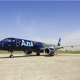Azul Celebrates Delivery of First Embraer E195-E2 Aircraft Powered By Pratt & Whitney GTF Engines