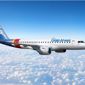 Congo Airways Converts Embraer E175 Order to E190-E2 Jets